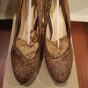Cole Haan speckled pony hair pumps